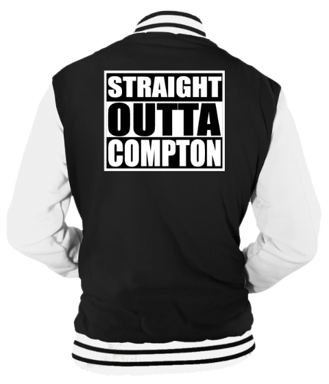 STRAIGHT OUTTA COMPTON VARSITY - INSPIRED BY NWA  ICE CUBE EAZY-E DR.DRE